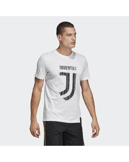 4a86e96c81e ... Adidas - White Juventus Dna Graphic Tee for Men - Lyst ...