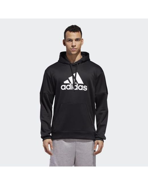 Adidas - Black Team Issue Badge Of Sport Hoodie for Men - Lyst