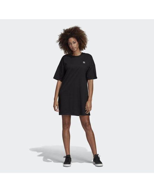 d8606e89e56 Adidas - Black Trefoil Dress - Lyst ...