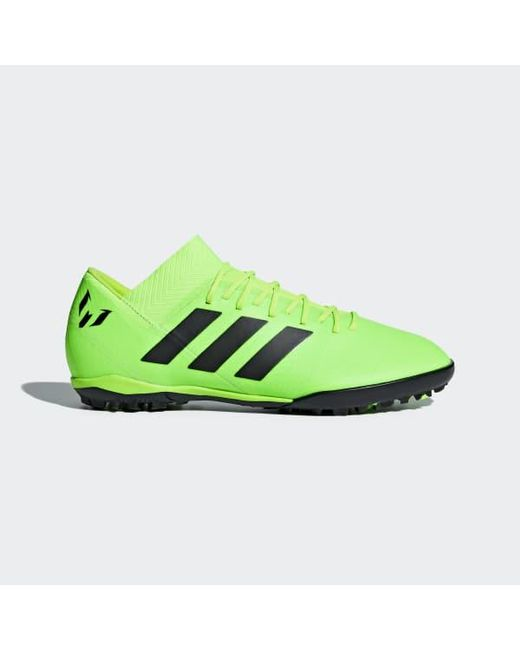 lyst adidas nemeziz messi tango territorio scarpe in verde per gli uomini.