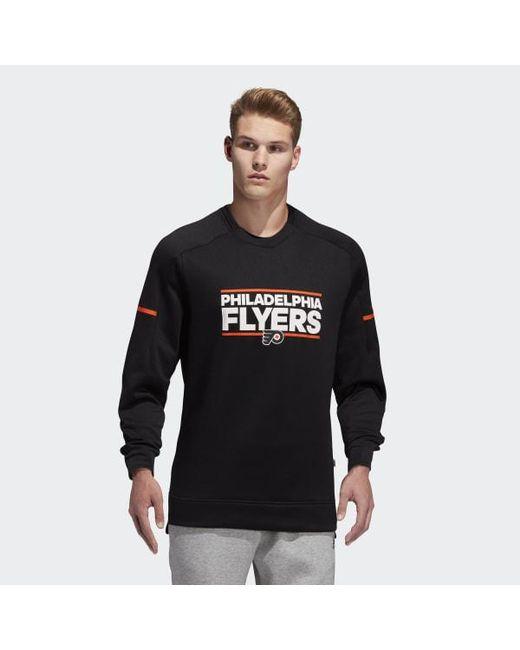 Adidas - Black Flyers Squad Crew Sweatshirt for Men - Lyst ... 017fd0387