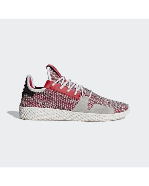online retailer 60ad6 75246 Adidas - Red Pharrell Williams Solarhu Tennis V2 Shoes for Men - Lyst ...