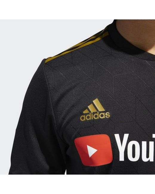 3162d0193 ... Adidas - Black Los Angeles Football Club Home Authentic Jersey for Men  - Lyst ...