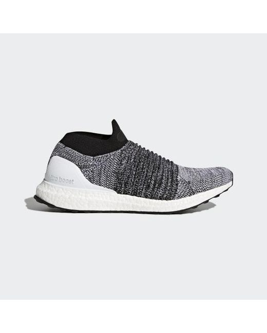 90a7fdbf505b2 Adidas - White Ultraboost Laceless Shoes for Men - Lyst ...