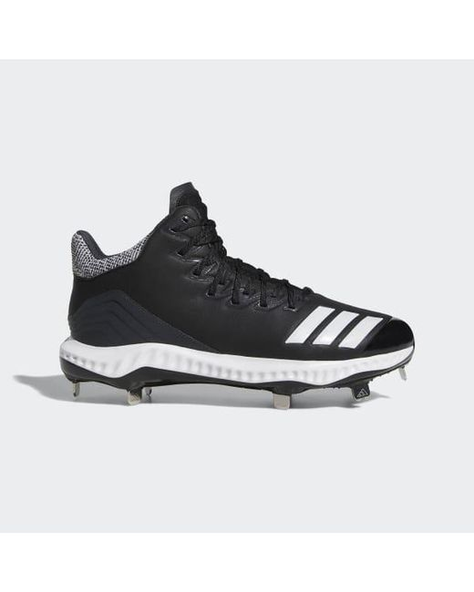 ae7bdb35b45d3 Adidas - Black Icon Bounce Mid Cleats for Men - Lyst ...