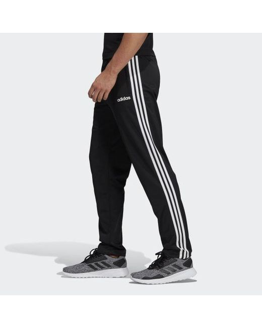 f0447233be24 ... Adidas - Black Essentials 3-stripes Tapered Pants for Men - Lyst ...
