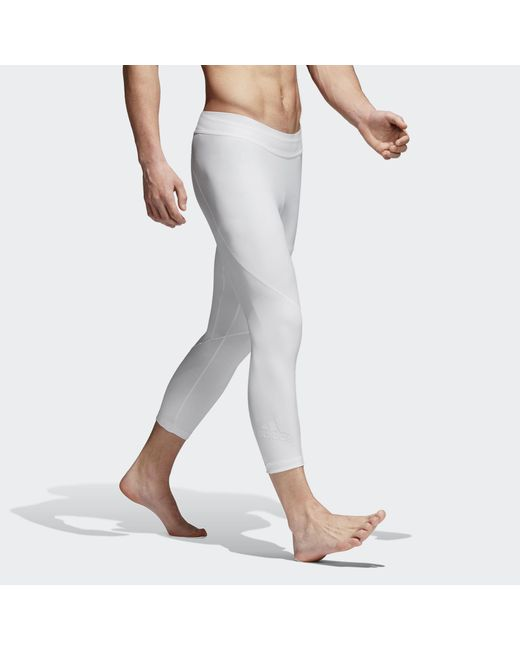 c614db5f069f0 ... Adidas - White Alphaskin 3/4 Tech Tights for Men - Lyst