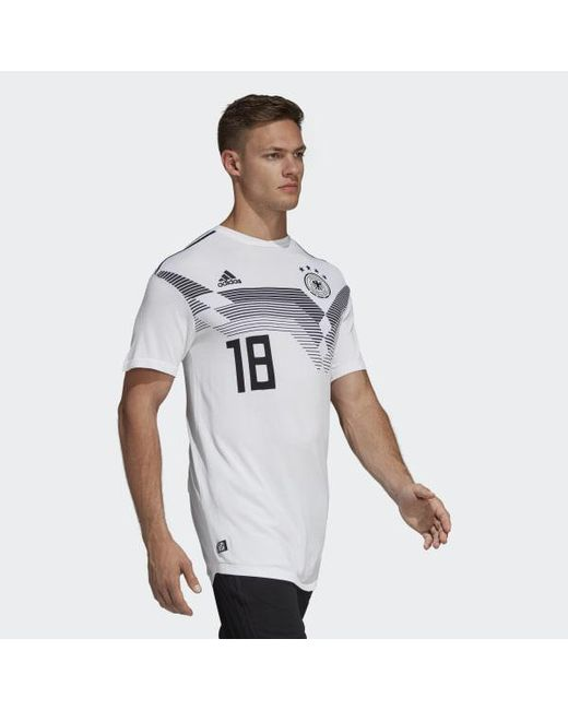 cda61b0e3 ... Adidas - White Germany Home Jersey for Men - Lyst ...