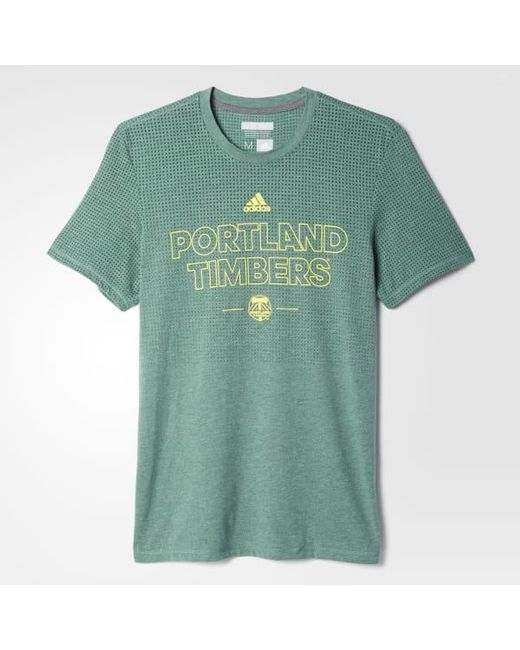 Adidas - Green Timbers Climacool Aeroknit Tee for Men - Lyst
