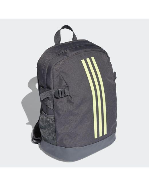 ... Adidas - Gray 3-stripes Power Backpack Medium for Men - Lyst 26e6f88c0a21f