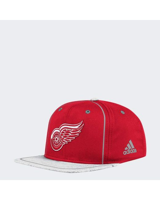 7a2ce2095c6 Lyst - Adidas Red Wings Flat Brim Hat in Red for Men