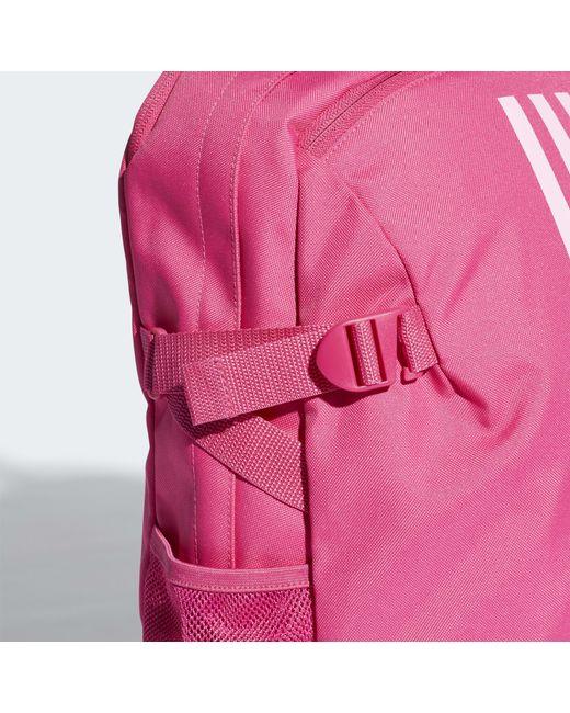 8e1d79eebd Sac à dos 3-Stripes Power moyen format adidas en coloris Rose - Lyst
