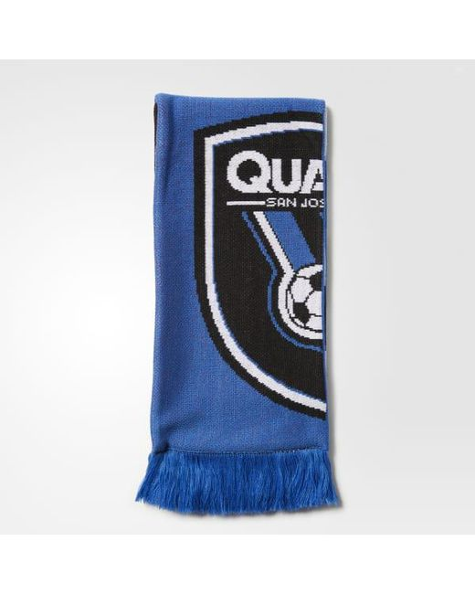 Adidas - Blue San Jose Earthquakes Jacquard Scarf for Men - Lyst