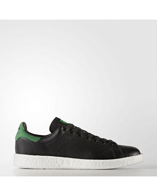 hot sales 1c46e 228e9 Adidas - Black Stan Smith Boost Shoes - Lyst ...