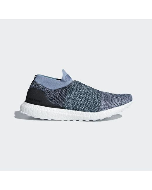 reputable site 70033 78117 Adidas - Blue Ultraboost Laceless Parley Shoes - Lyst ...