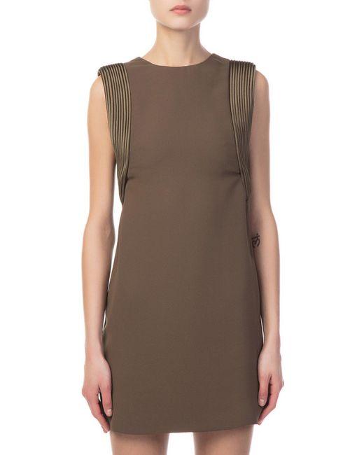 Brandon Maxwell - Green Piped Arm Olive Mini Dress - Lyst