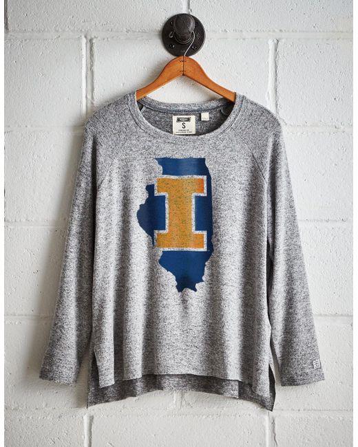 Tailgate - Gray Women's Illinois Plush Tee - Lyst