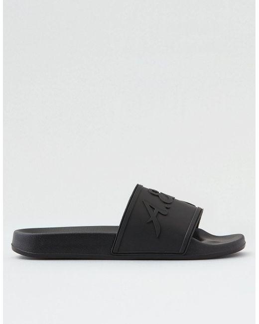 b4e275a91c484e ... American Eagle - Black Slide Sandal for Men - Lyst
