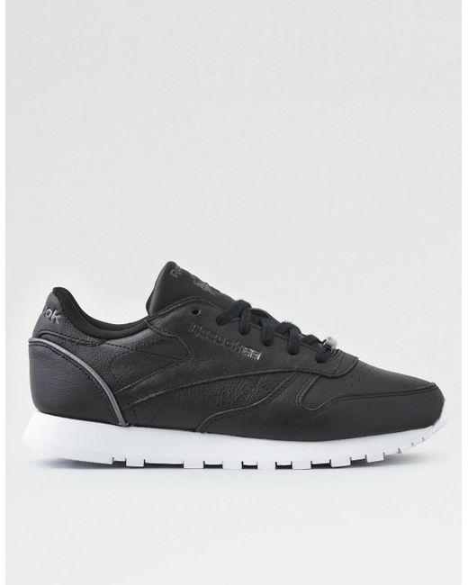 American Eagle - Black Reebok Classic Leather Hw Sneaker - Lyst ... 86a127e02561