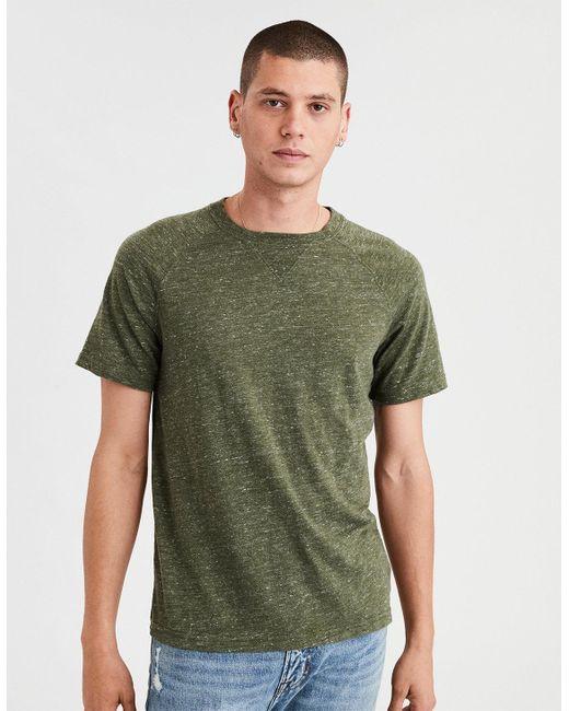 American Eagle - Green Ae Slub Jersey T-shirt for Men - Lyst
