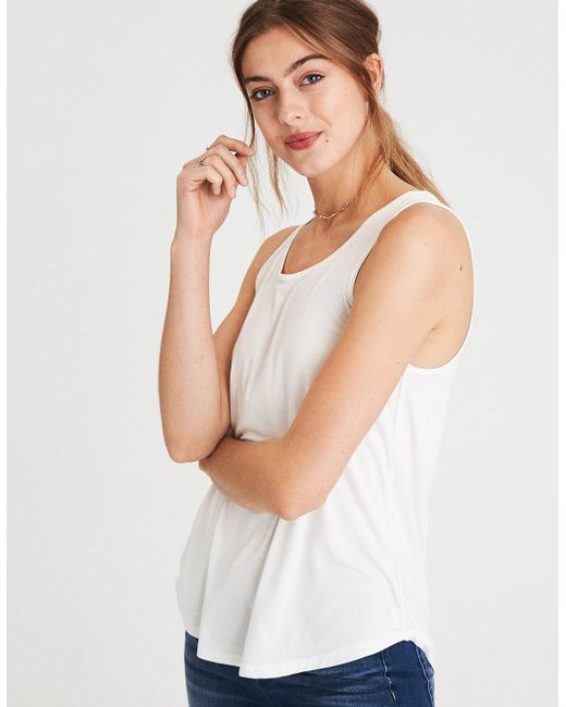 American Eagle - White Ae Soft & Sexy Scoop Neck Tank Top - Lyst