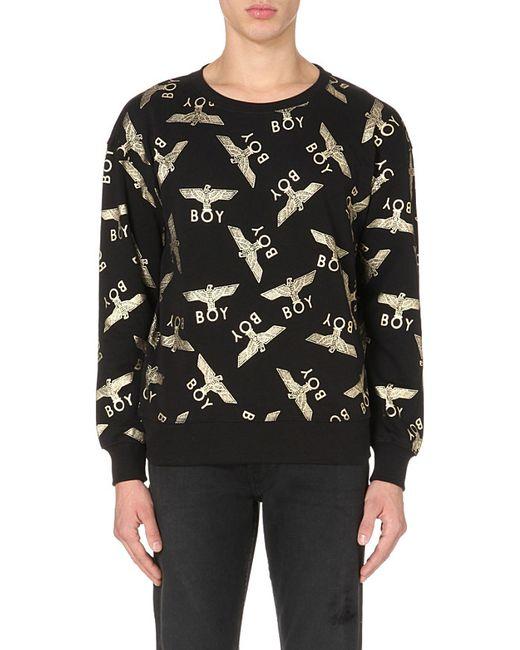BOY London | Metallic Eagle Repeat Cotton Sweatshirt for Men | Lyst