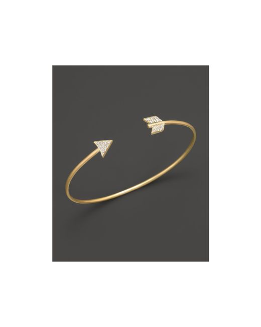 Meira T | Metallic 14k Yellow Gold Arrow Bangle Bracelet | Lyst
