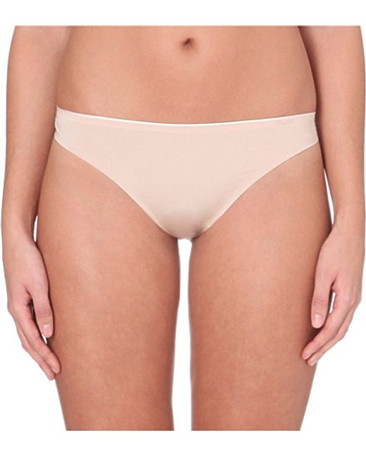 Chantelle | Natural Irresistible Jersey Thong | Lyst