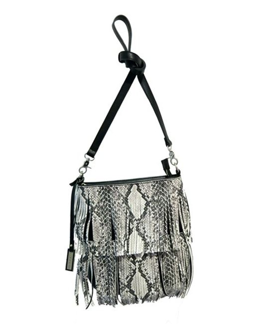 Urban Originals | Black Burning Up Fringed Cross-Body Bag | Lyst