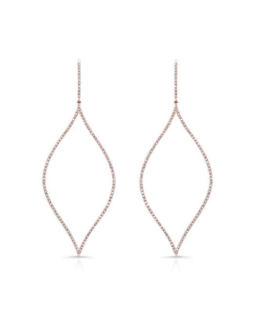 Anne Sisteron | Pink 14kt Rose Gold Diamond Open Marquis Diamond Earring | Lyst