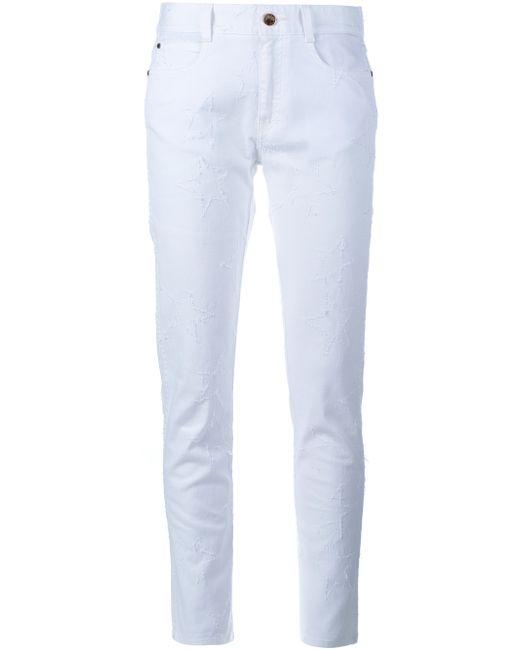 Stella Mccartney Star Embroidered Skinny Boyfriend Jeans In Gold (WHITE) | Lyst