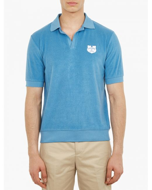 Melindagloss polo shirt in terry towelling in multicolor for Mens terry cloth polo shirt
