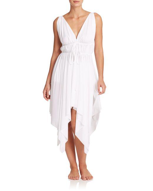 Norma Kamali   White Goddess Asymmetrical Dress   Lyst
