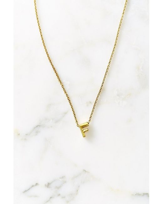 Urban Outfitters   Metallic Initial Block Necklace   Lyst