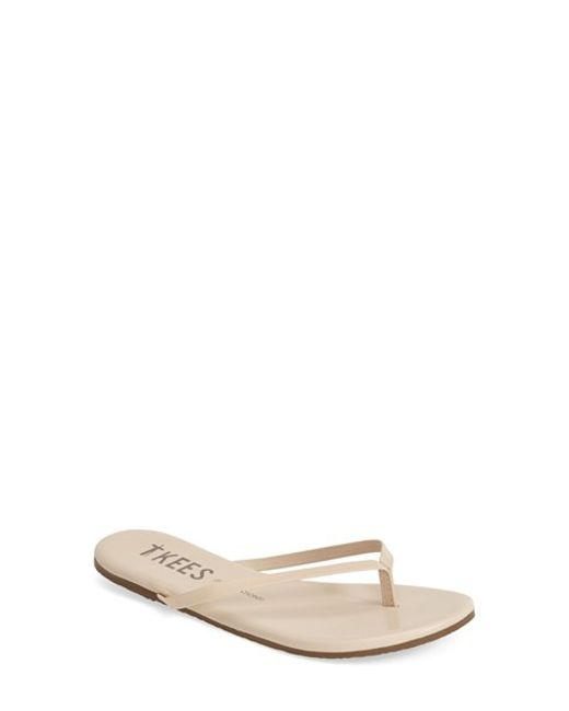 TKEES | Natural 'foundations' Flip Flop | Lyst