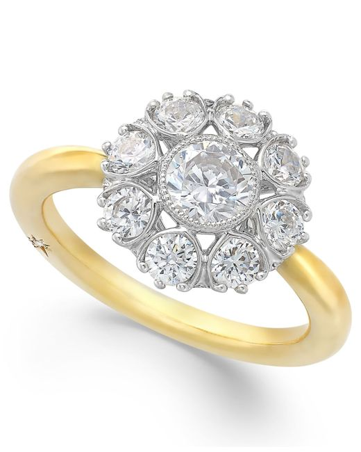 Marchesa | Metallic Star By Certified Diamond Engagement Ring In 18k Gold (1-1/3 Ct. T.w.) | Lyst