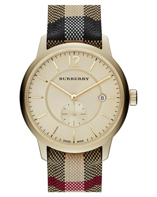 Burberry | Natural Textured Dial Watch | Lyst