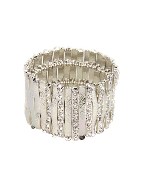 Guess | Metallic Stretch Bars Bracelet | Lyst