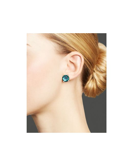 Ippolita | Blue Rock Candy Sterling Silver Wonderland Mini Stud Earrings In Kelly Doublet | Lyst