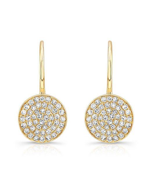 Anne Sisteron - Metallic 14kt Yellow Gold Diamond Disc Earrings - Lyst
