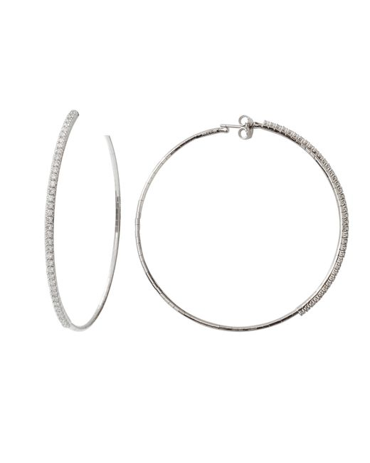 Mattia Cielo | Metallic Rugiada Collection Tennis Diamond Hoop Earrings | Lyst