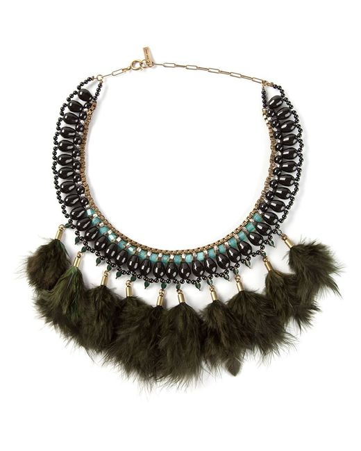 Isabel Marant | Black Feather Necklace | Lyst