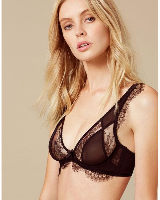 f2653350961c9 Agent Provocateur Deanna Bra Black in Black - Lyst