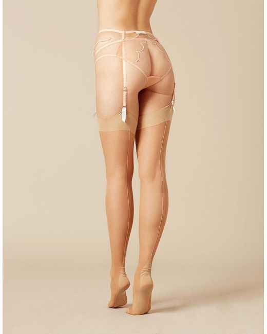 Agent Provocateur - Natural Opale Stocking Champagne - Lyst