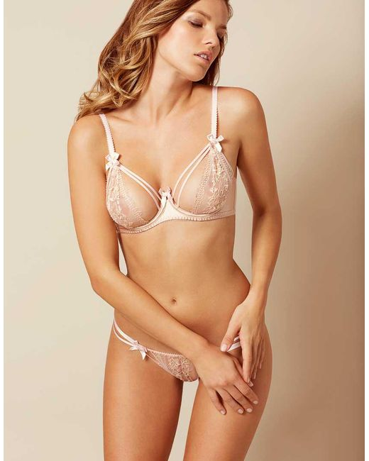 Agent Provocateur - Natural Tanya Plunge Underwired Bra - Lyst