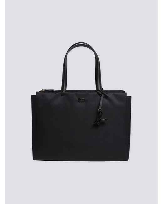 Agnes B Black Zipped Canvas Handbag Lyst