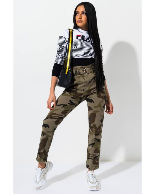Akira - Green All The Way To The Left Camo Denim Pant - Lyst