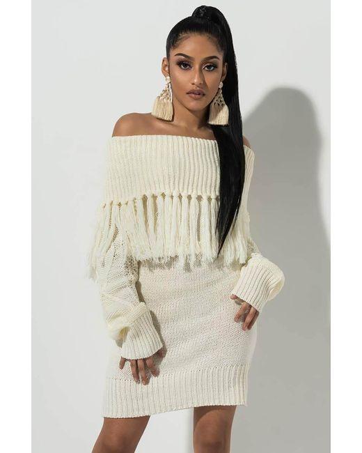 37fbdb88a5cf Akira - White All Day Sweater Dress - Lyst ...