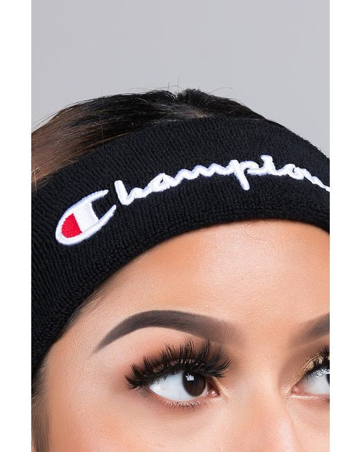 ... Champion - Black Terry Headband - Lyst 2650e7ac4ec