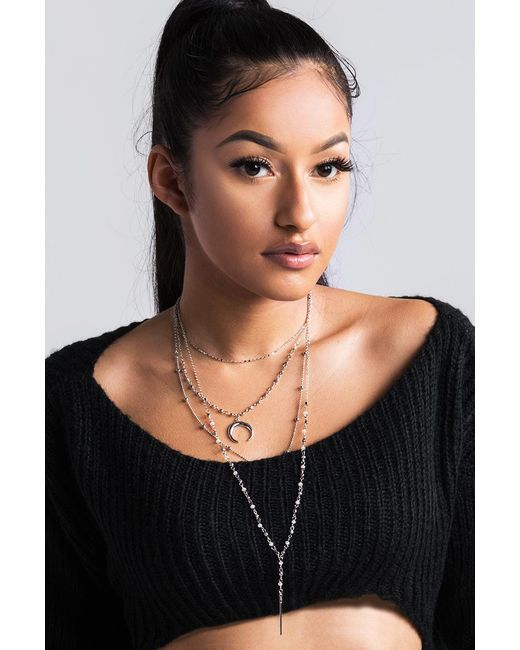 Akira   Multicolor What's Your Sign Tiered Necklace   Lyst